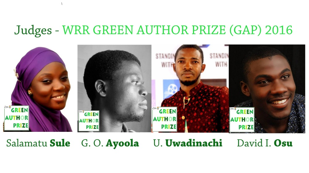 Judge WRR GREEN AUTHOR PRIZE (GAP) 2016